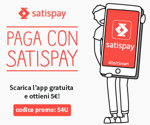 Paga con @Satispay – Se non sei iscritto 5€ di bonus per te